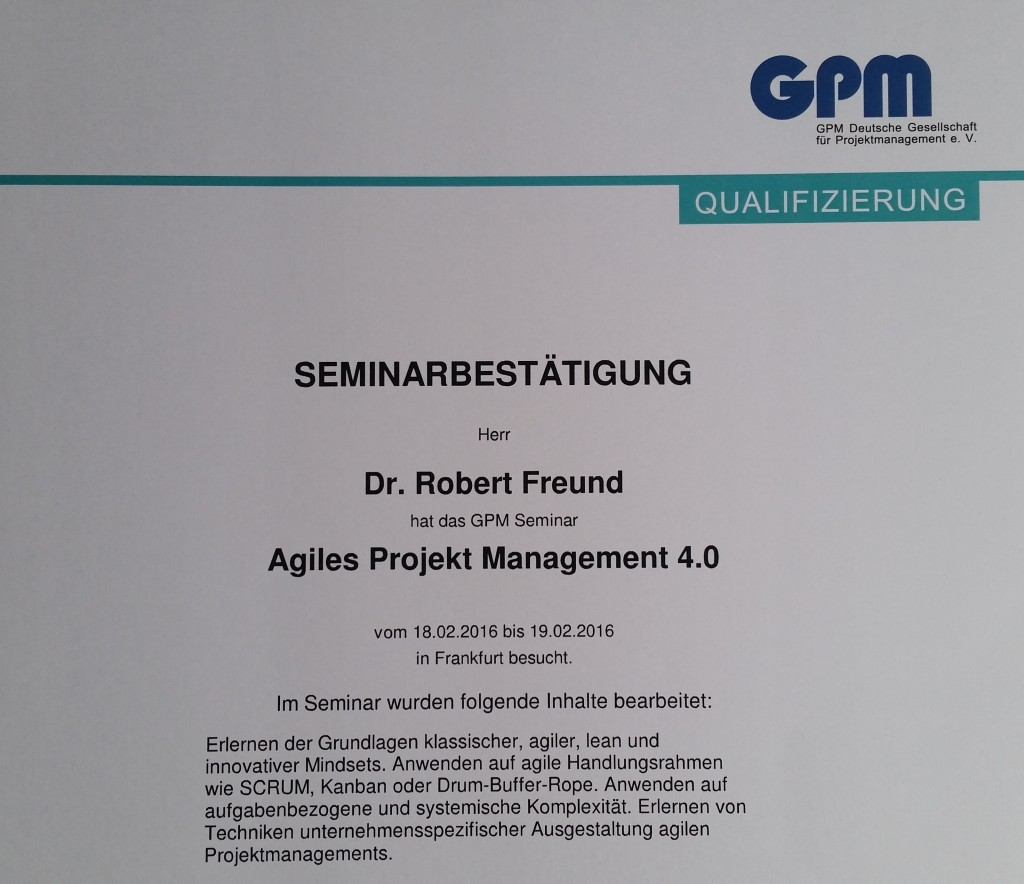 agiles projektmanagement 4.0